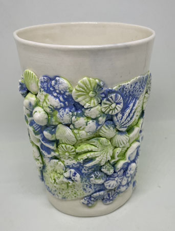 Blue and Green Coral \'Hug Me\' Mug