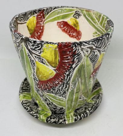 Hand Carved Potplant Holder