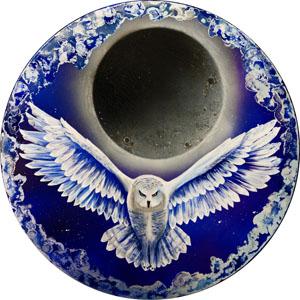 Mystical Owl - Dark Blue