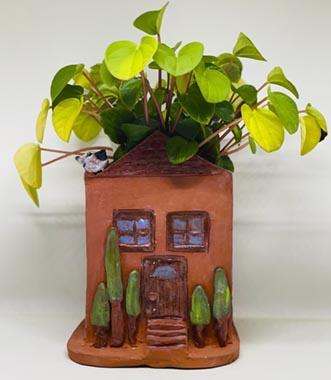 Terracotta House Planter - Workshop